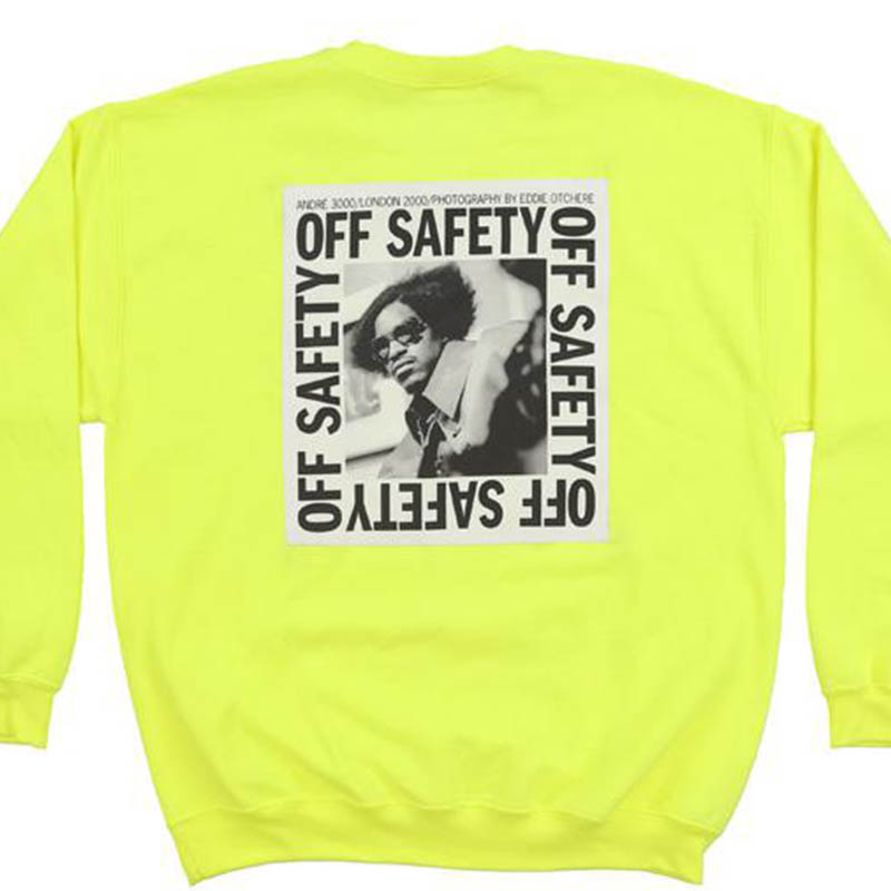 【OFF SAFETY/オフセーフティー】STACKS CREW クルースウェット / SAFETY YELLOW
