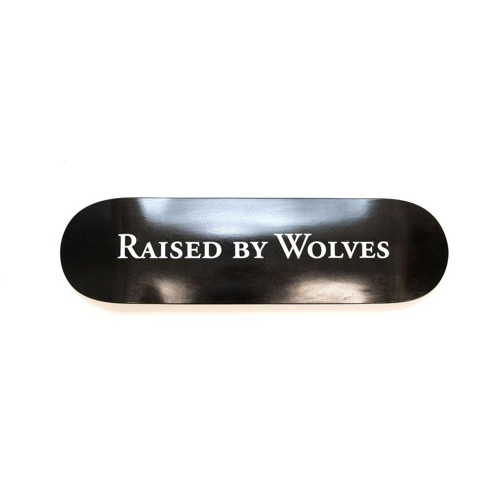 【RAISED BY WOLVES/レイズドバイウルブス】LOGOTYPE SKATEBOARD スケートボード / BLACK