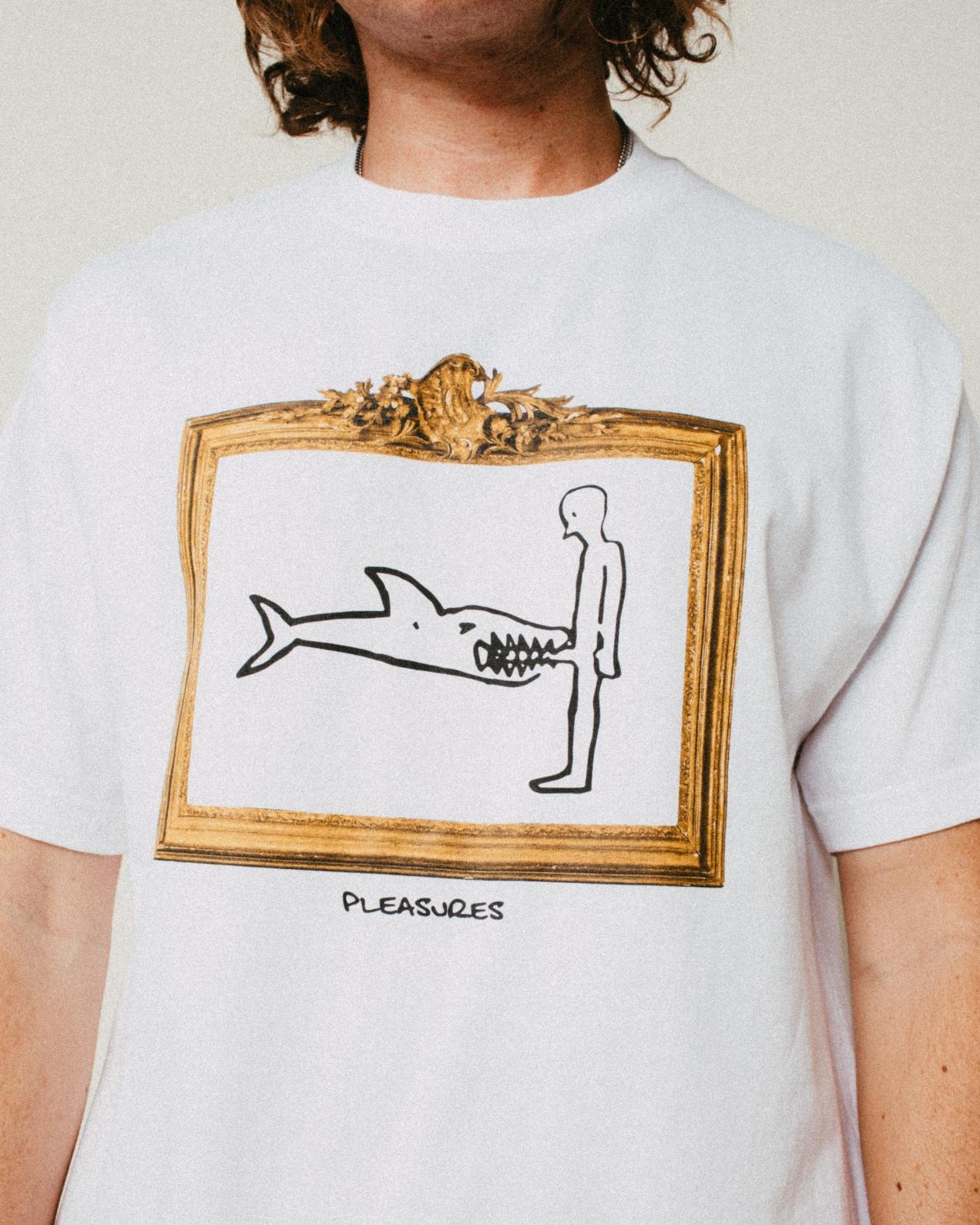 【PLEASURES/プレジャーズ】BITE T-SHIRT Tシャツ / WHITE
