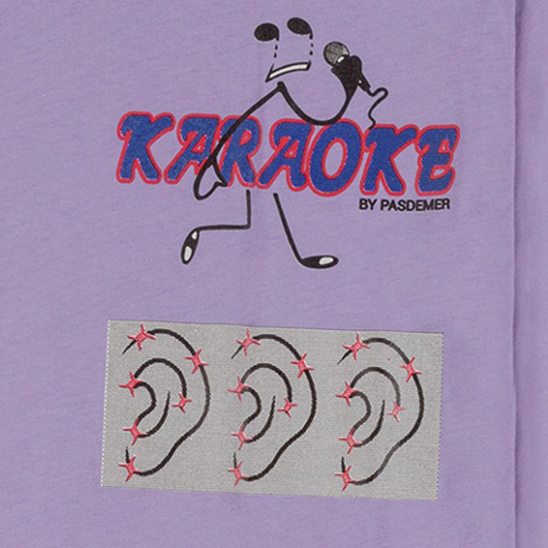 【PAS DE MER/パドゥメ】KARAOKE LONGSLEEVE ロングTシャツ / LIGHT PURPLE