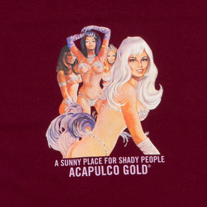 【ACAPULCO GOLD/アカプルコ ゴールド】TOO HOT TEE Tシャツ / BURGUNDY