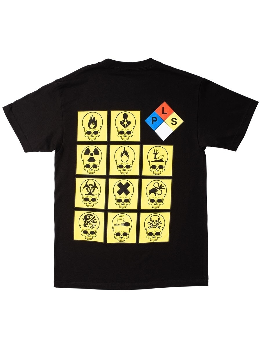 【PLEASURES/プレジャーズ】BIOHAZARD T-SHIRT Tシャツ / BLACK