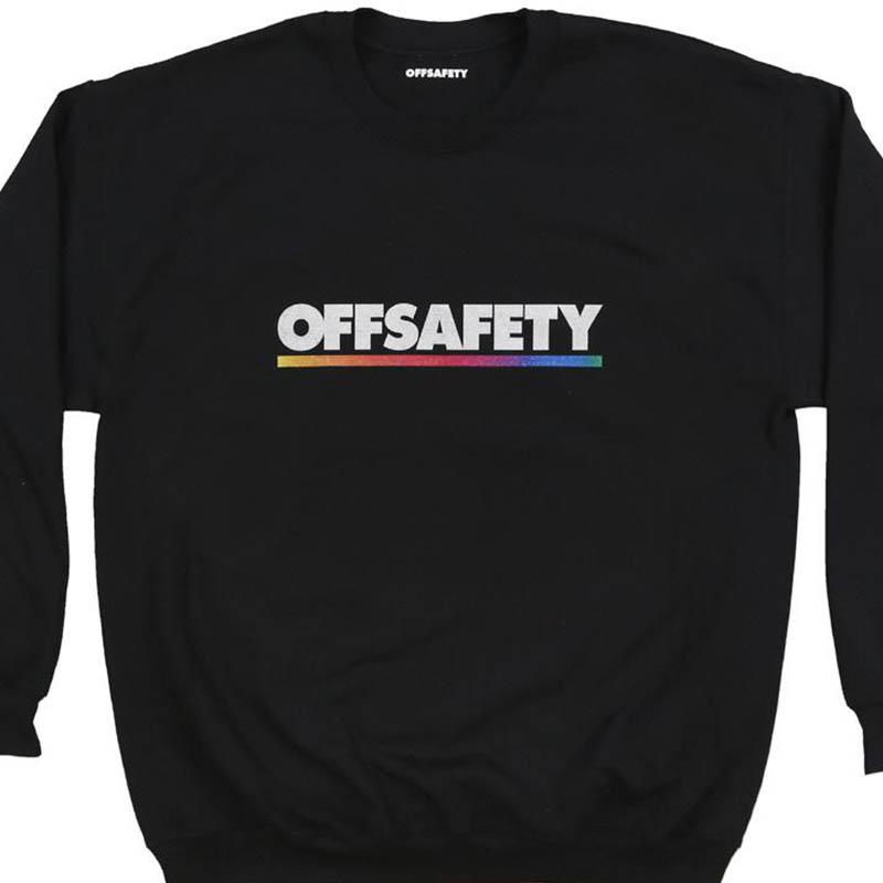【OFF SAFETY/オフセーフティー】COLOR LINE CREW クルースウェット / BLACK