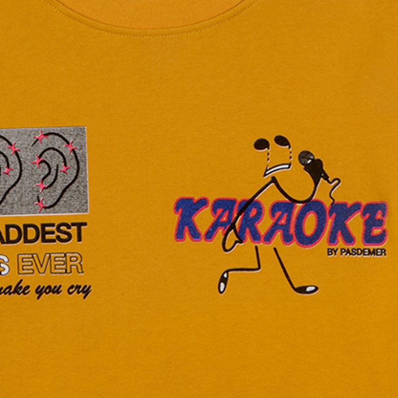 【PAS DE MER/パドゥメ】KARAOKE OVERSIZE SWEATSHIRT クルーネックスウェット / MUSTARD