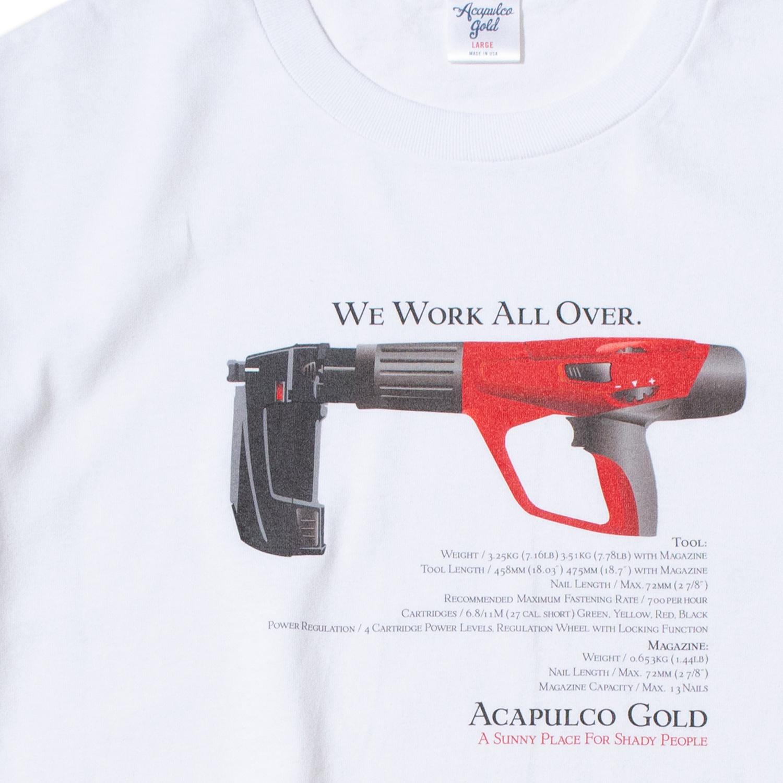 【ACAPULCO GOLD/アカプルコ ゴールド】EMOJI TEE TEE Tシャツ / WHITE