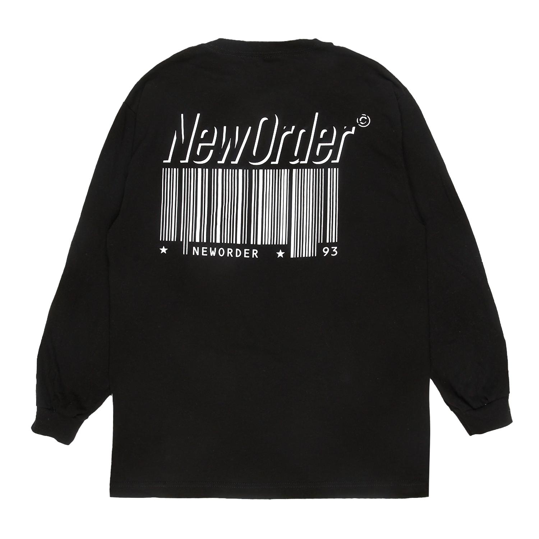 【PLEASURES/プレジャーズ×NEW ORDER/ニュー・オーダー】REPUBLIC LONG SLEEVE T-SHIRT 長袖Tシャツ / BLACK