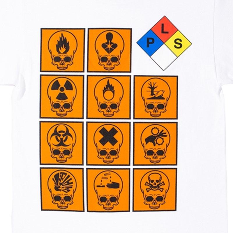 【PLEASURES/プレジャーズ】BIOHAZARD T-SHIRT Tシャツ / WHITE