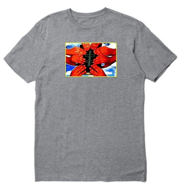 【PLEASURES/プレジャーズ】SHARING T-SHIRT Tシャツ / HEATHER GREY