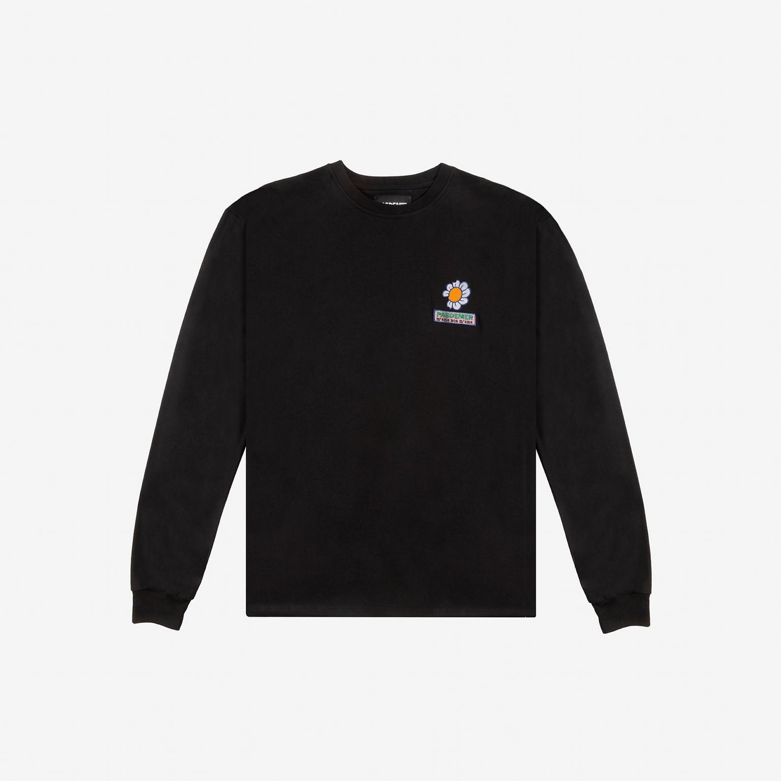 【PAS DE MER/パドゥメ】MAMANONMAMA LONGSLEEVE ロングTシャツ / BLACK