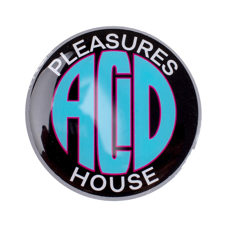 【PLEASURES/プレジャーズ】ACID HOUSE ENAMEL PIN ピンバッチ / BLACK
