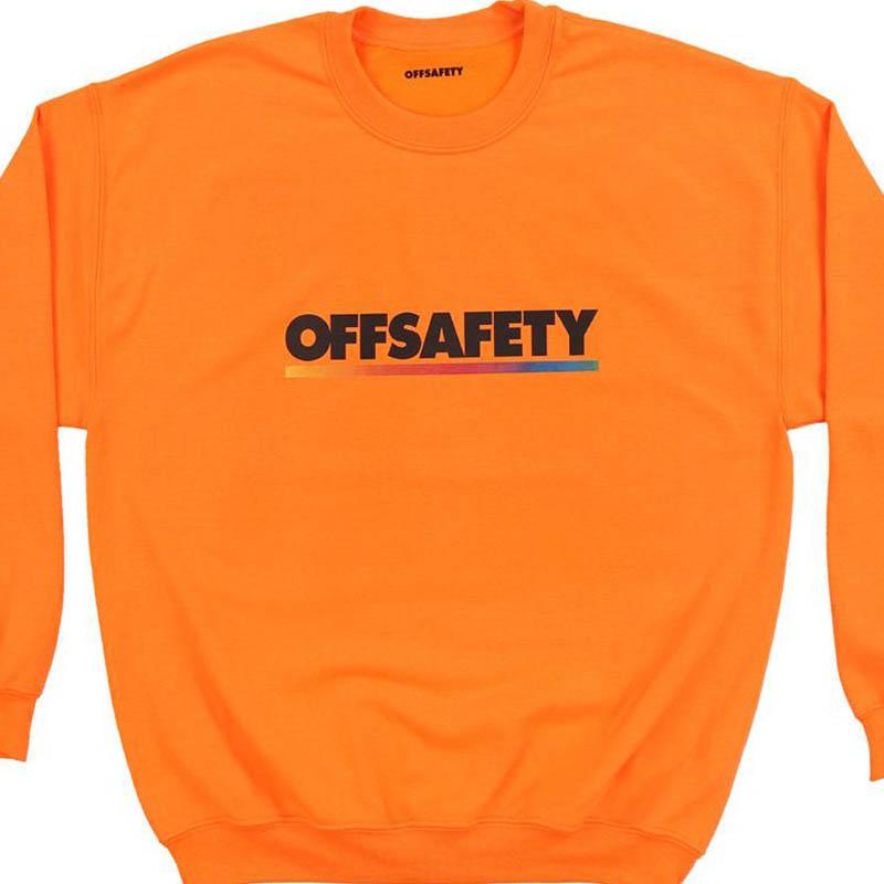 【OFF SAFETY/オフセーフティー】COLOR LINE CREW クルースウェット / ORANGE