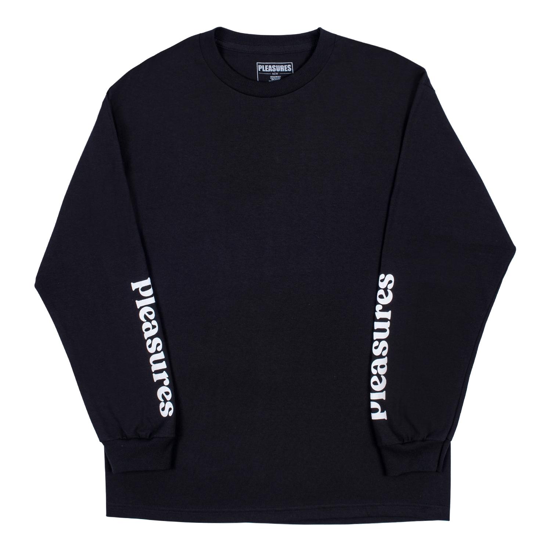 【PLEASURES/プレジャーズ】TOUCH LONG SLEEVE T-SHIRT ロングTシャツ / BLACK