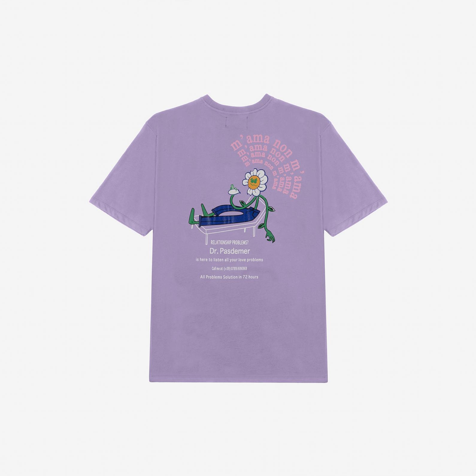 【PAS DE MER/パドゥメ】MAMANONMAMA T-SHIRT Tシャツ / LIGHT PURPLE