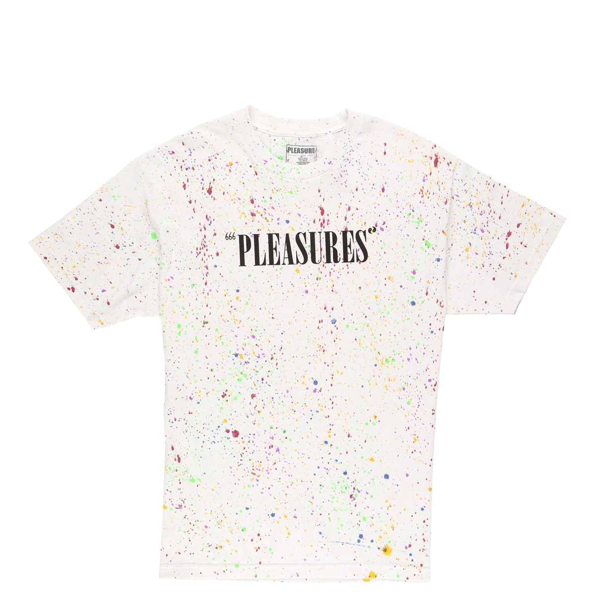 【PLEASURES/プレジャーズ】BALANCE TYE DYE T-SHIRT Tシャツ / SPECKLE WHITE