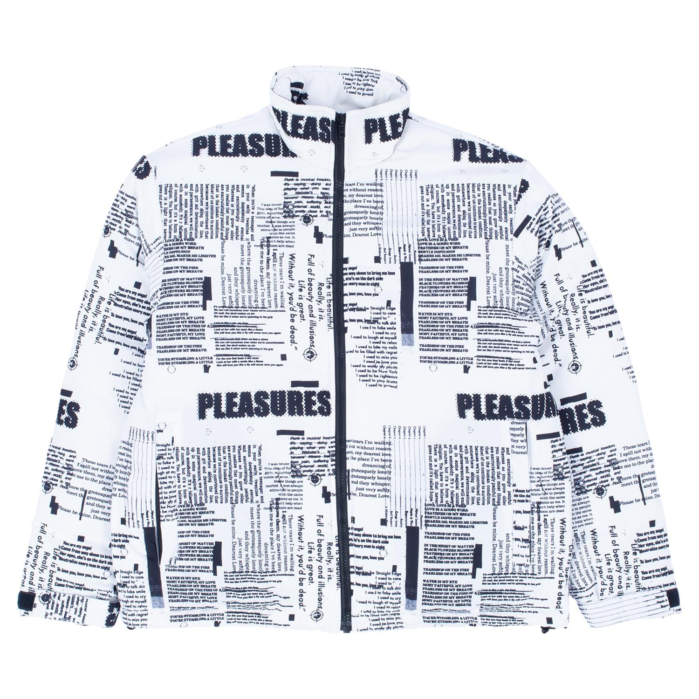 【PLEASURES/プレジャーズ】POEMS PUFFER JACKET パファジャケット / WHITE