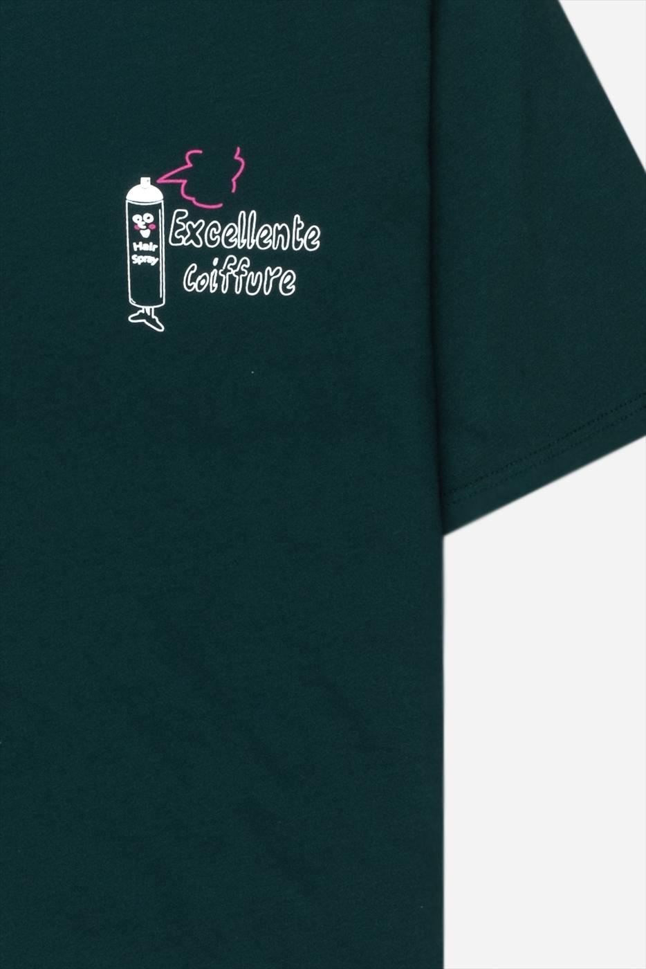【PAS DE MER/パドゥメ】BARBER T-SHIRT Tシャツ / DARK GREEN