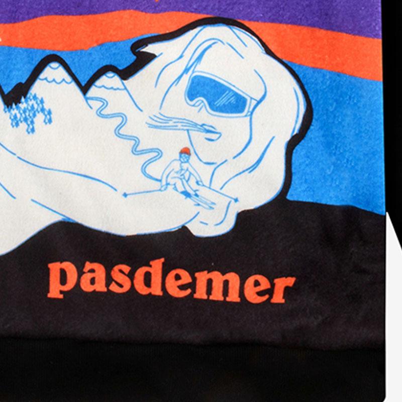【PAS DE MER/パドゥメ】MOUNTAINS POLAR FLEECE SWEATSHIRT ポーラテックのフリーススウェット / PATTERN