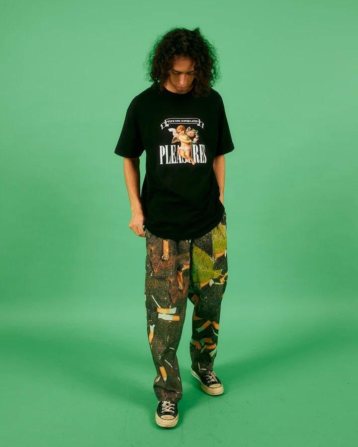 【PLEASURES/プレジャーズ】LITTER BEACH PANT パンツ / MULTI