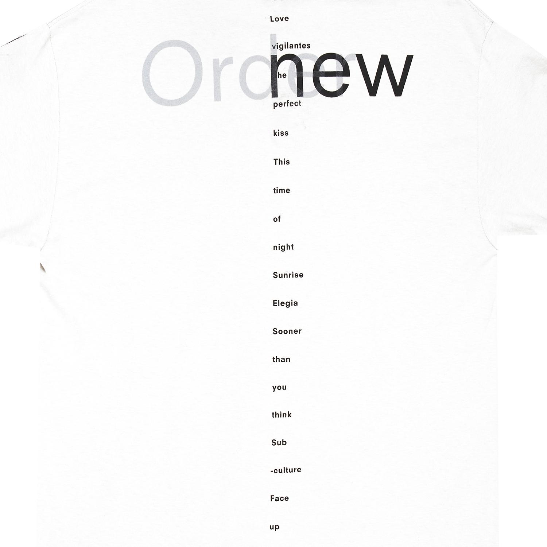 【PLEASURES/プレジャーズ×NEW ORDER/ニュー・オーダー】LOWLIFE T-SHIRT Tシャツ / WHITE