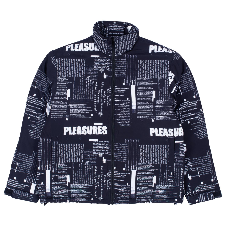【PLEASURES/プレジャーズ】POEMS PUFFER JACKET パファジャケット / BLACK