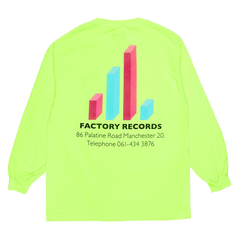 【PLEASURES/プレジャーズ×NEW ORDER/ニュー・オーダー】FACTORY LONG SLEEVE T-SHIRT 長袖Tシャツ / SAFETY GREEN
