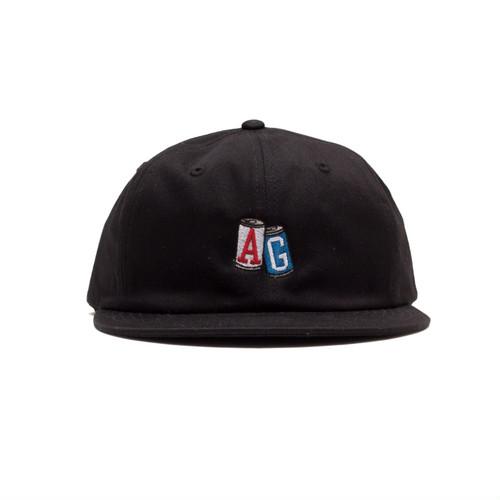 【ACAPULCO GOLD/アカプルコ ゴールド】AG CANS TWILL 6PANEL CAP ストラップバックキャップ / BLACK