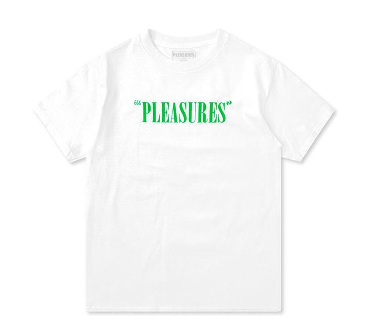 【PLEASURES/プレジャーズ】BALANCE LOGO T-SHIRT Tシャツ / WHITE