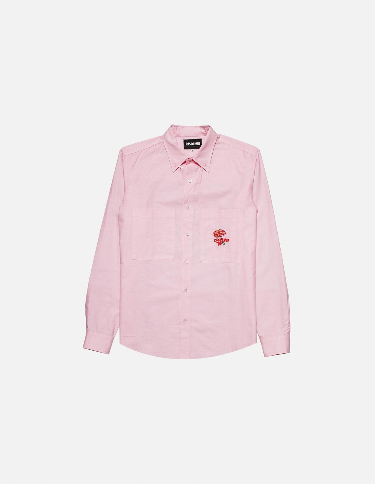 【PAS DE MER/パドゥメ】BURZUM SHIRT 長袖シャツ / LIGHT PINK