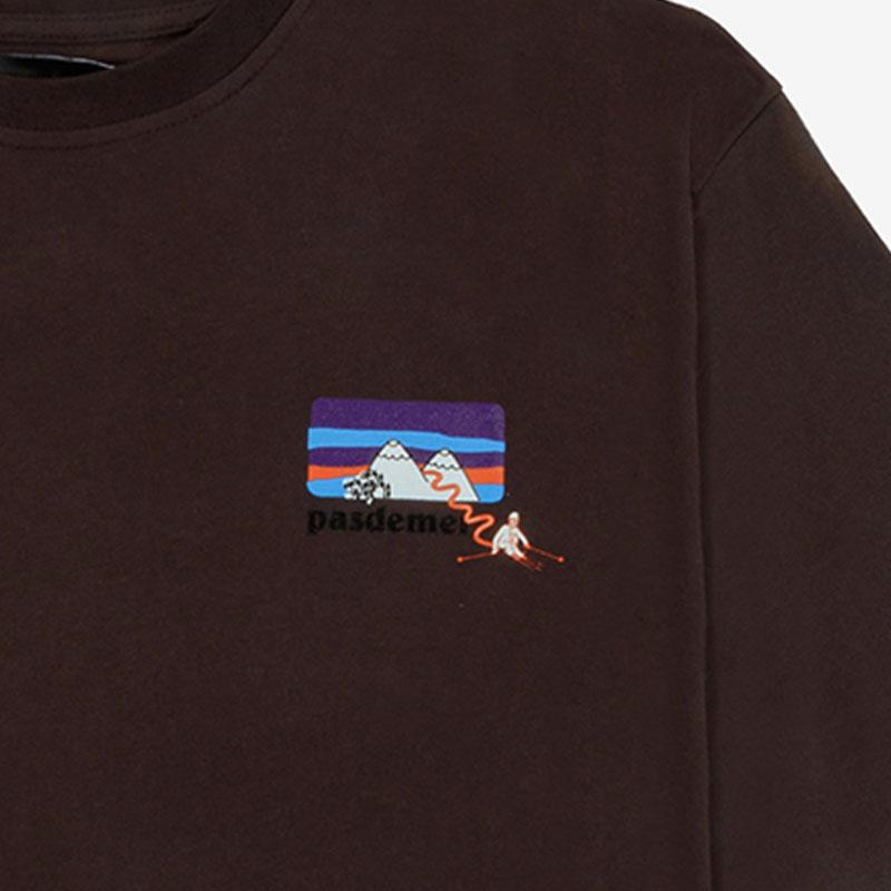 【PAS DE MER/パドゥメ】MOUNTAINS T-SHIRT Tシャツ / BROWN