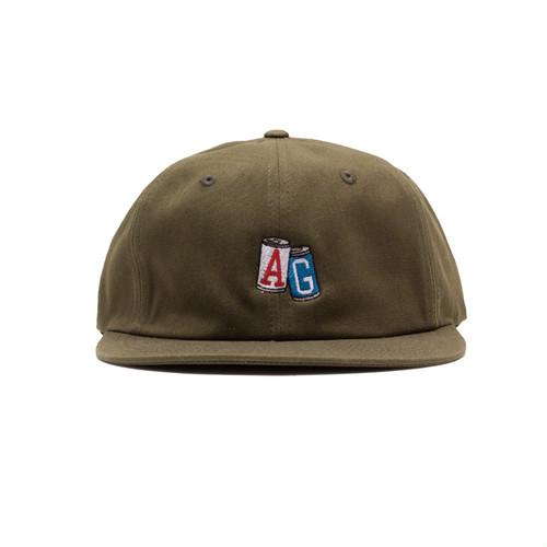 【ACAPULCO GOLD/アカプルコ ゴールド】AG CANS TWILL 6PANEL CAP ストラップバックキャップ / OLIVE