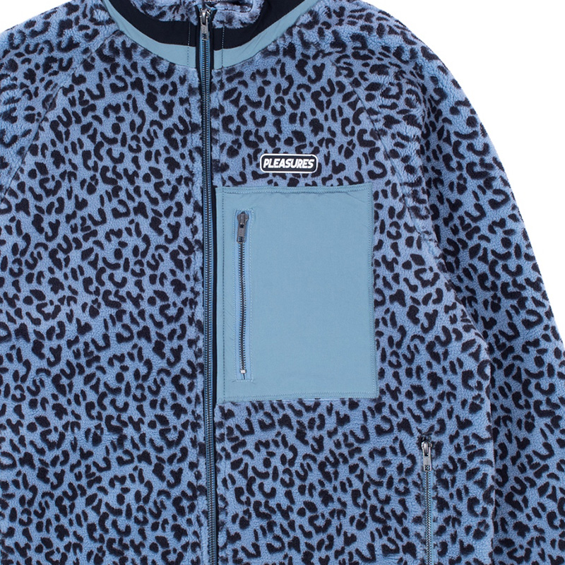 【PLEASURES/プレジャーズ】WILD SHERPA JACKET シェルパジャケット / BLUE