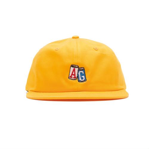 【ACAPULCO GOLD/アカプルコ ゴールド】AG CANS TWILL 6PANEL CAP ストラップバックキャップ / YELLOW