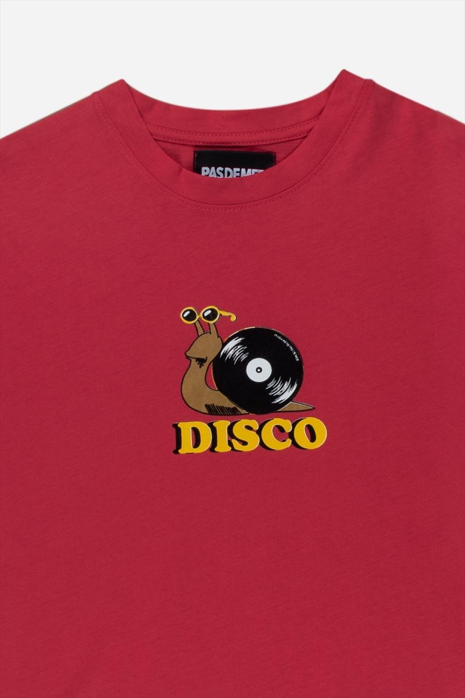 【PAS DE MER/パドゥメ】DISCO T-SHIRT Tシャツ / RED SALMON