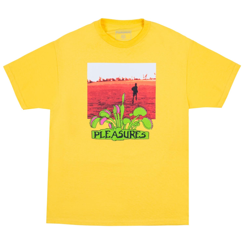 【PLEASURES/プレジャーズ】TRAPPED T-SHIRT Tシャツ / YELLOW