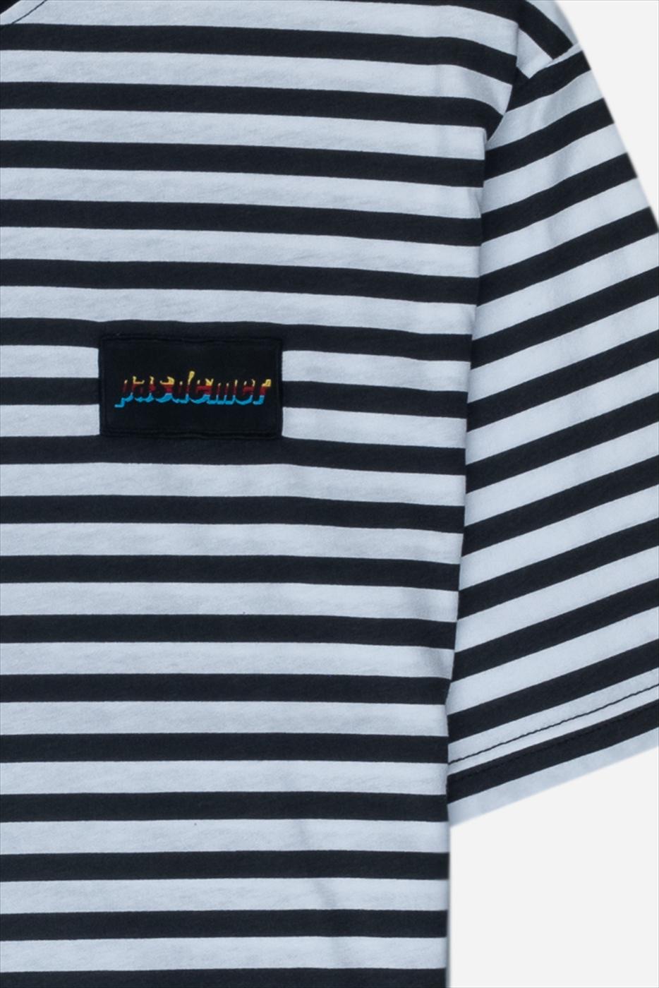 【PAS DE MER/パドゥメ】HOLIDAY T-SHIRT Tシャツ / BLACK/WHITE STRIPES