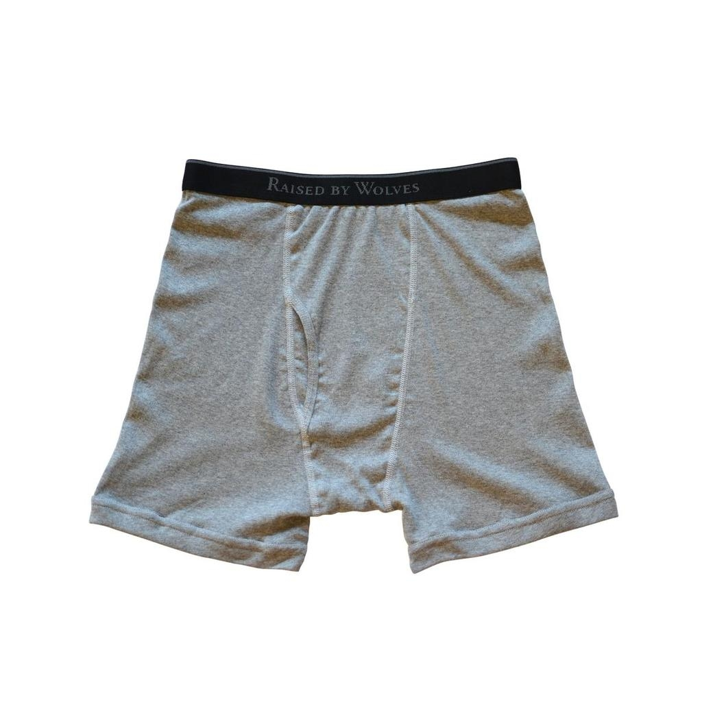 【RAISED BY WOLVES/レイズドバイウルブス】RBW/STANFIELD'S BOXER BRIEFS ボクサーパンツ / GREY