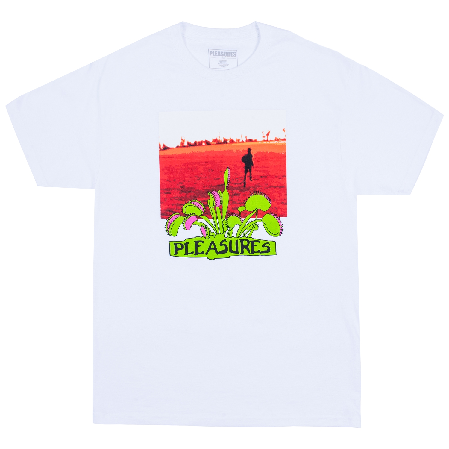 【PLEASURES/プレジャーズ】TRAPPED T-SHIRT Tシャツ / WHITE