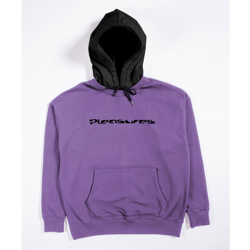 【PLEASURES/プレジャーズ】HARD DRIVE CREWNECK WITH HOODY パーカー / VIOLET