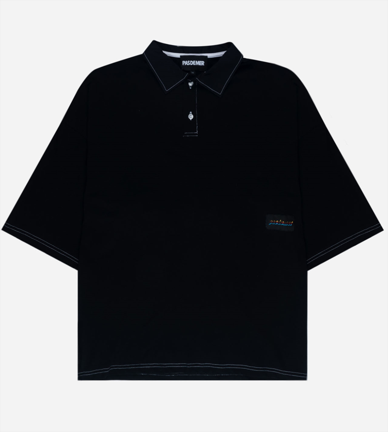 【PAS DE MER/パドゥメ】HOLIDAY POLO ポロシャツ / BLACK