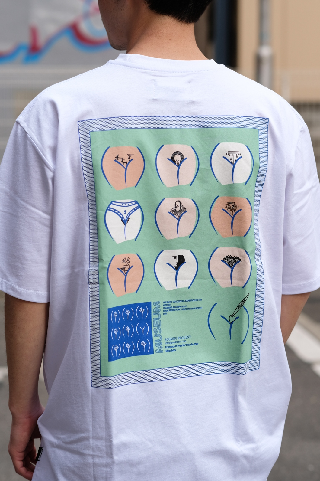 【PAS DE MER/パドゥメ】MUSEUM T-SHIRT Tシャツ / WHITE