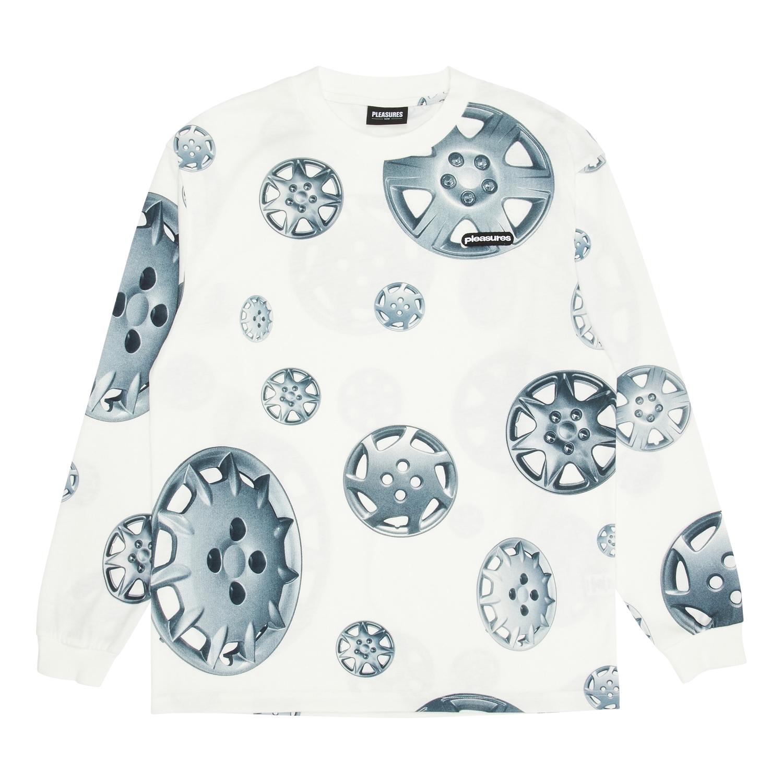 【PLEASURES/プレジャーズ】ROADSIDE LONG SLEEVE SHIRT 長袖カットソーTシャツ / WHITE