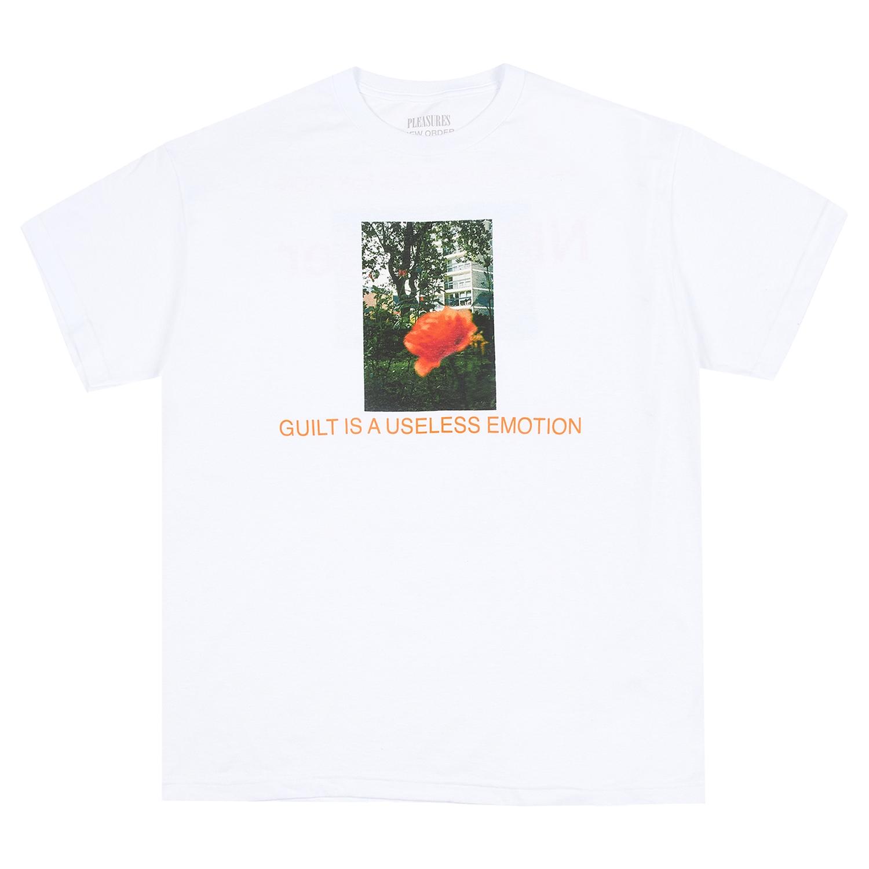 【PLEASURES/プレジャーズ×NEW ORDER/ニュー・オーダー】GUILT T-SHIRT Tシャツ / WHITE