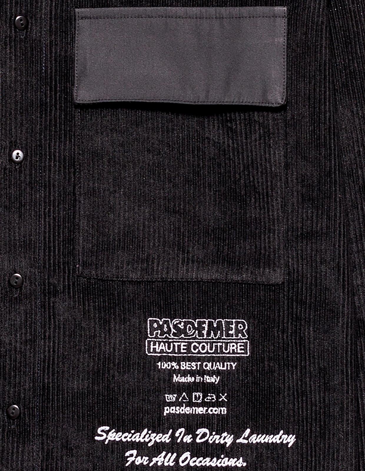 【PAS DE MER/パドゥメ】HAUTE COUTURE SHIRT 長袖シャツ / BLACK