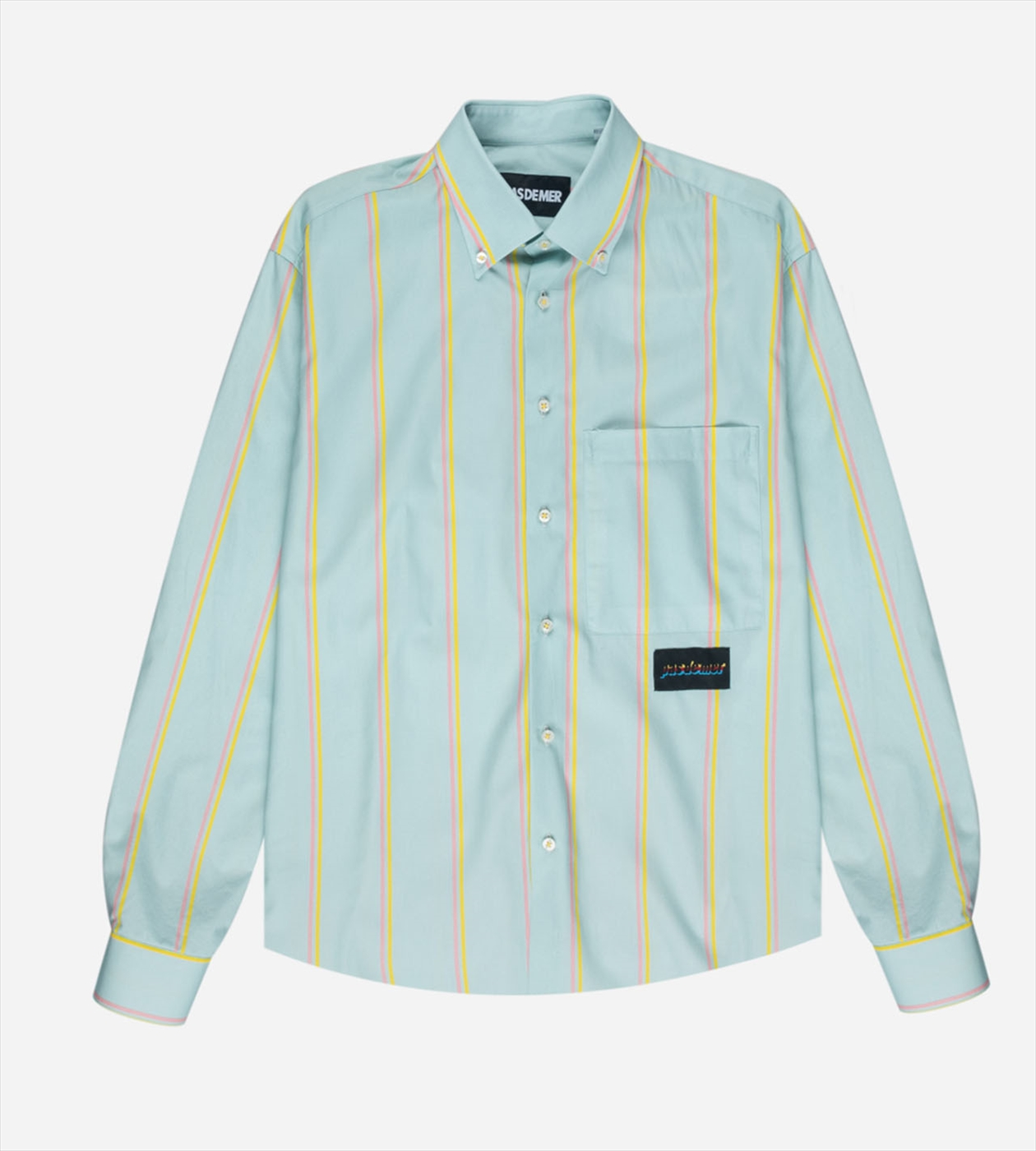 【PAS DE MER/パドゥメ】HOLIDAY SHIRT 長袖シャツ / LIGHT BLUE (PINK/YELLOW STRIPES)