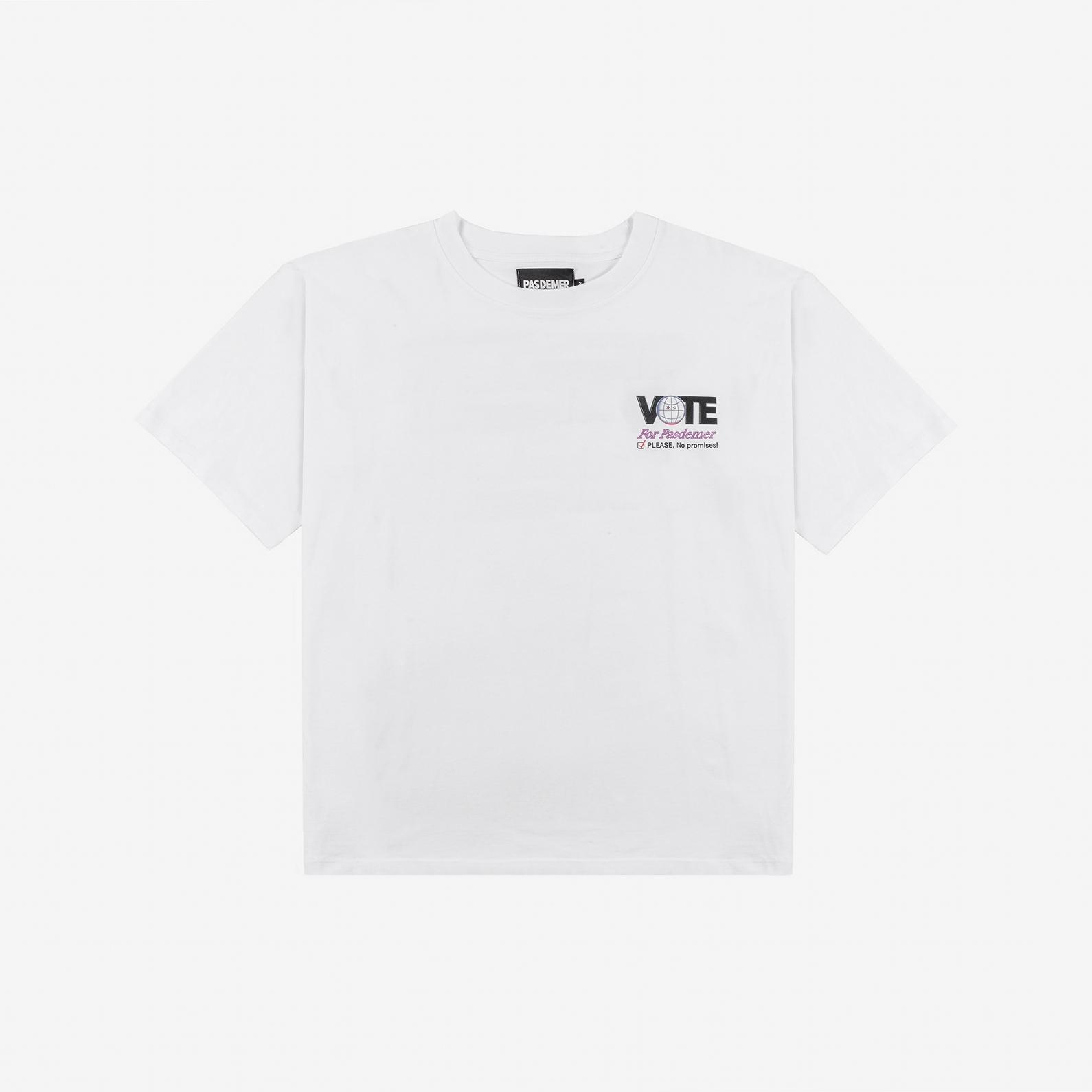 【PAS DE MER/パドゥメ】NO PROMISES OVERSIZE T-SHIRT オーバーサイズTシャツ / WHITE