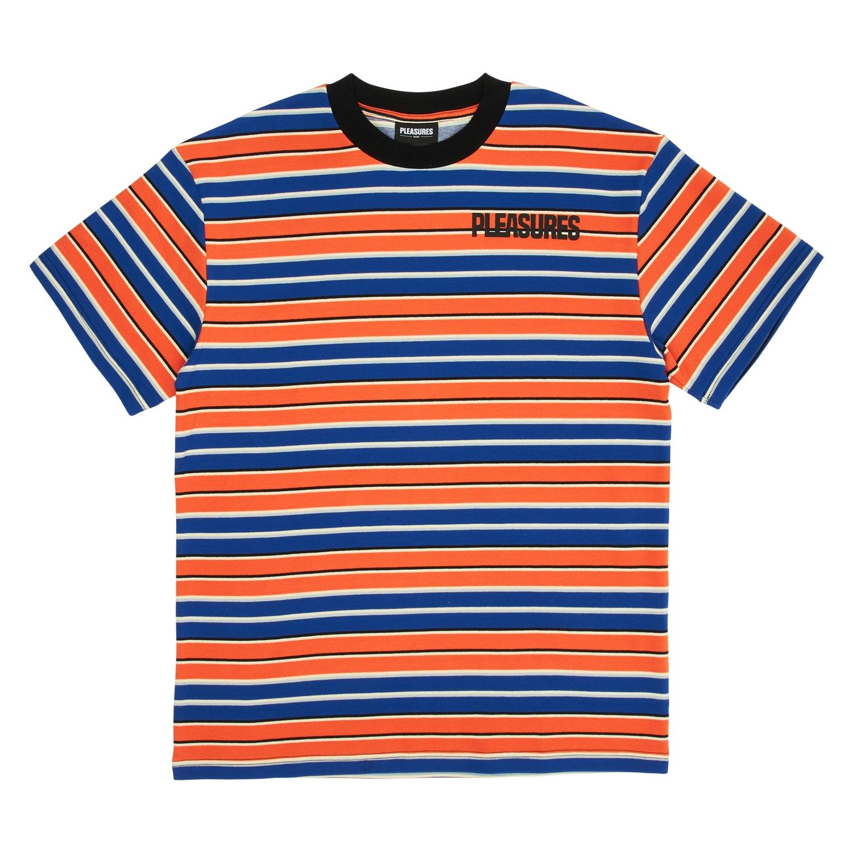 【PLEASURES/プレジャーズ】OUTLIER SHORT SLEEVE SHIRT カットソーTシャツ / BLUE