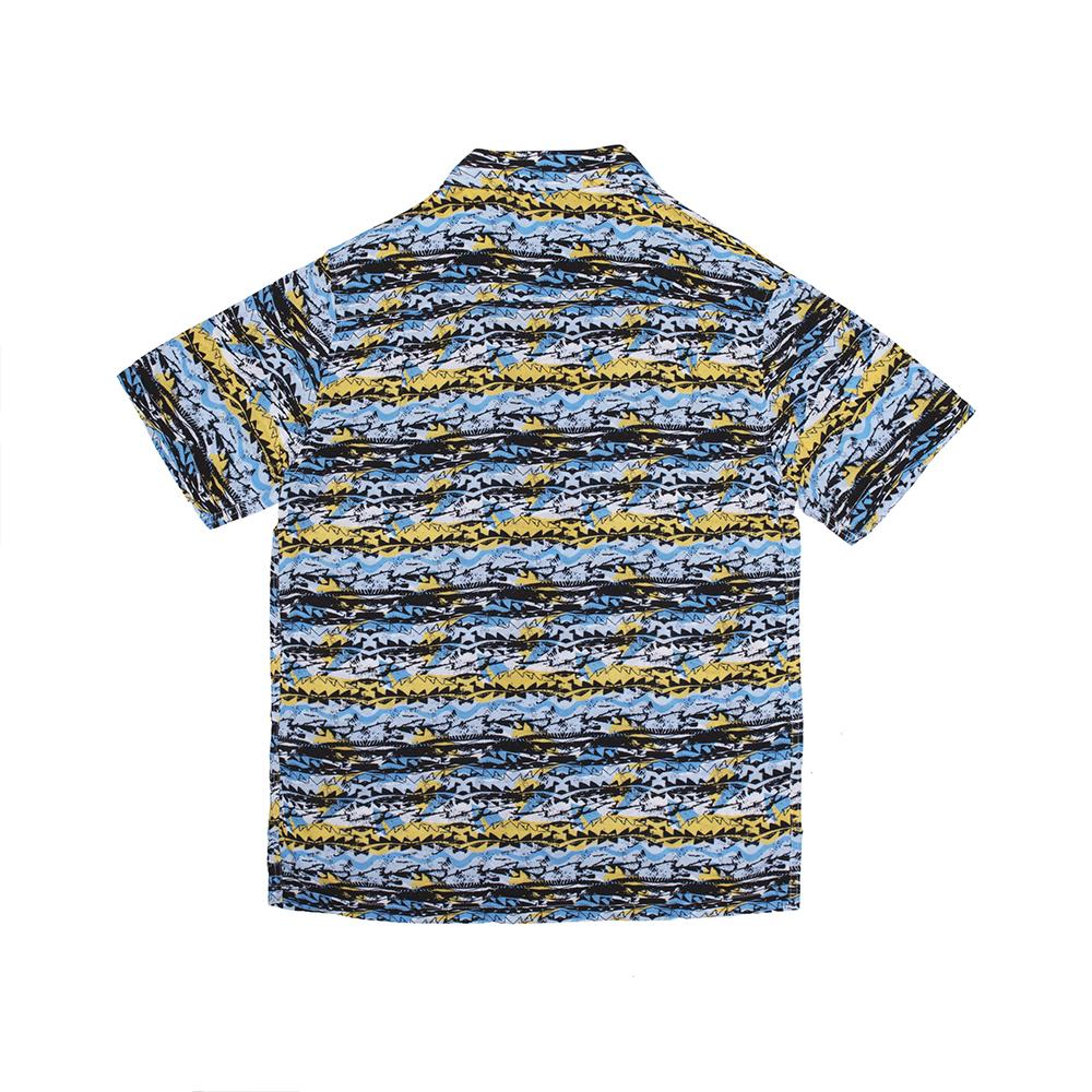 【ALLTIMERS/オールタイマーズ】DADS MATRIX BUTTON UP 半袖シャツ / BLUE