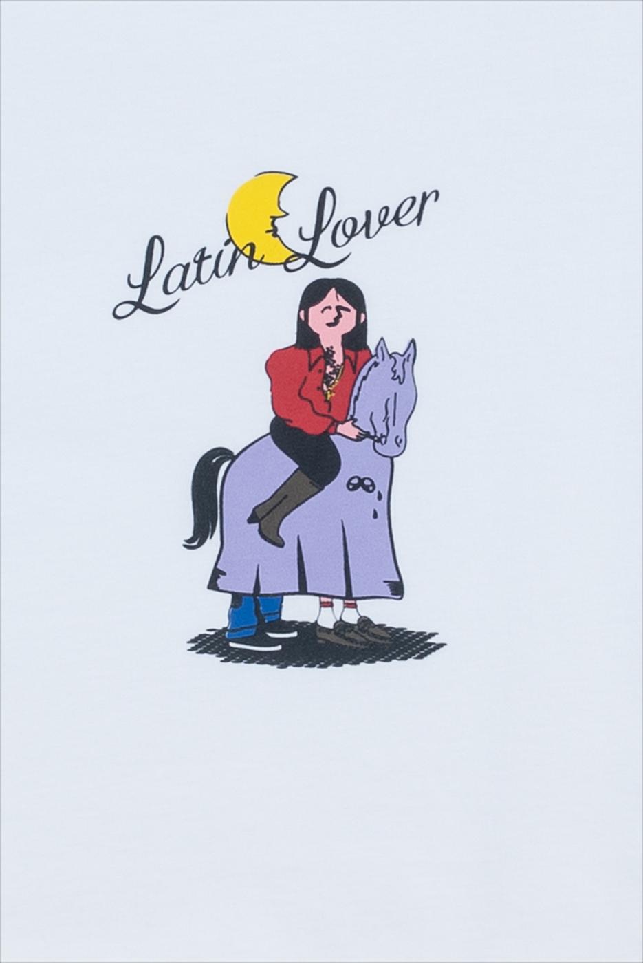 【PAS DE MER/パドゥメ】LATIN LOVER OVERSIZE T-SHIRT Tシャツ / WHITE