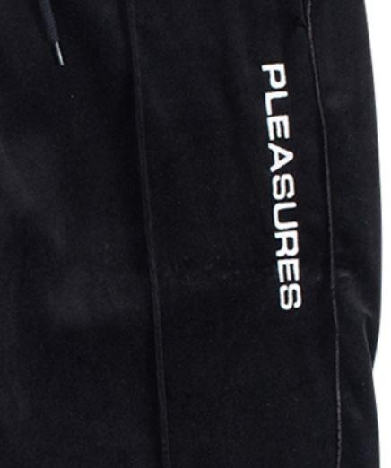 【PLEASURES/プレジャーズ】COZY VELOUR PANT ベロアパンツ / BLACK