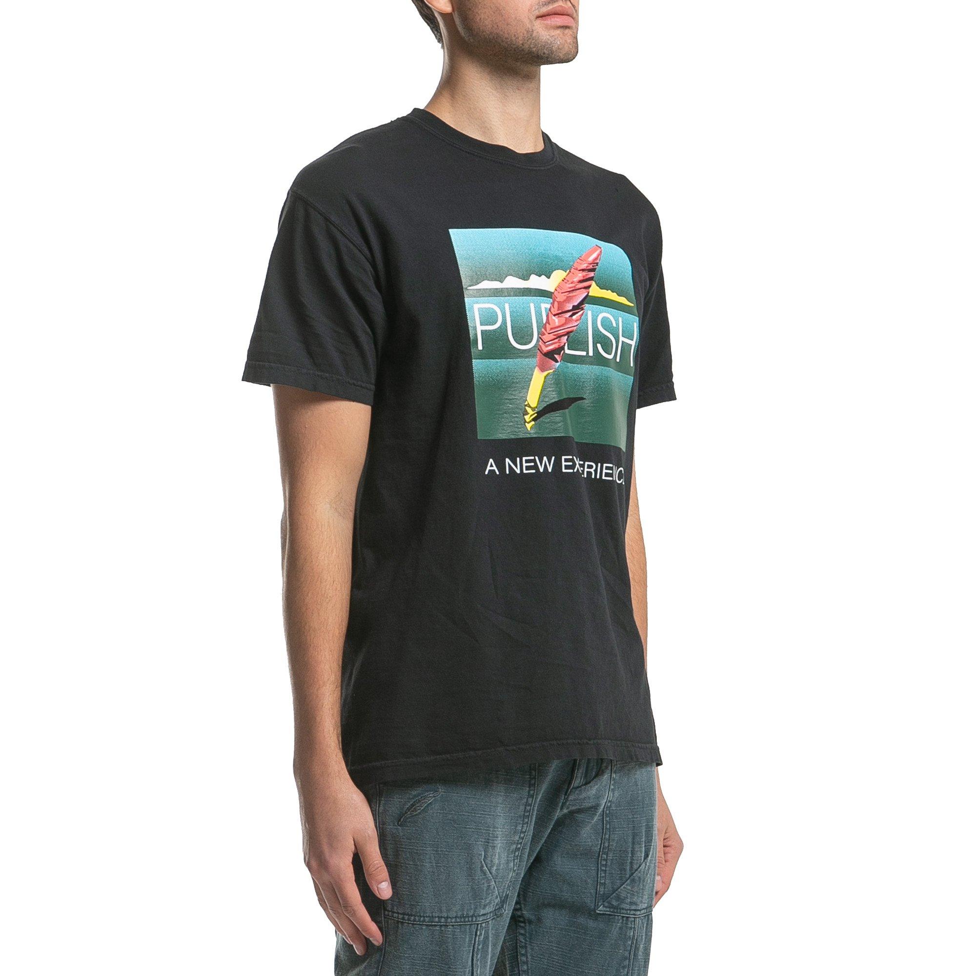 【PUBLISH BRAND/パブリッシュブランド】A NEW EXPERIENCE Tシャツ / BLACK